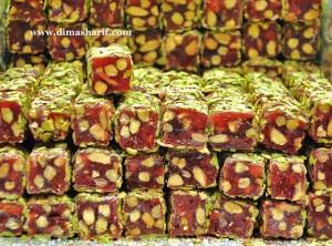 Pistachio and Pomegranite Turkish Delight