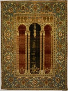 16th century prayer rug. Bursa.