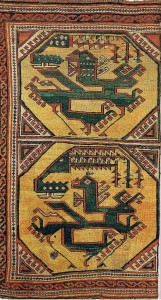 The Berlin Dragon Carpet discovered in an Italian Church in 1886. Possibl 15th century Anatolian