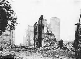 Guernica after the boming