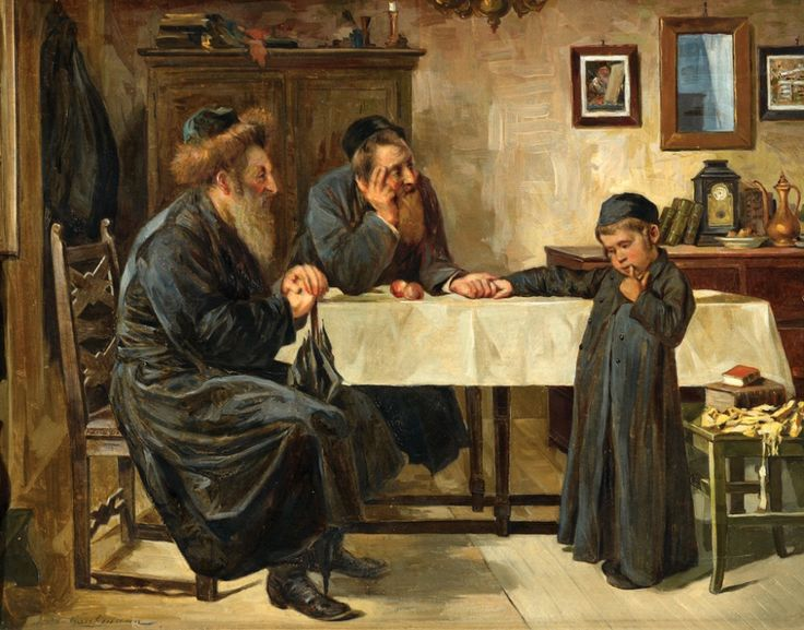 Two Rabbis and a Child by Isidor Kaufmann