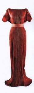Red silk taffeta Delphos