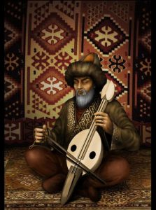 Blog 38 11082016 the dawn of turkish literature the book of dede the book of dede korkut dede playing 2 fandeluxe Image collections